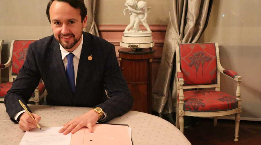 Andy De Cock legt eed af als nieuwe burgemeester van Laarne