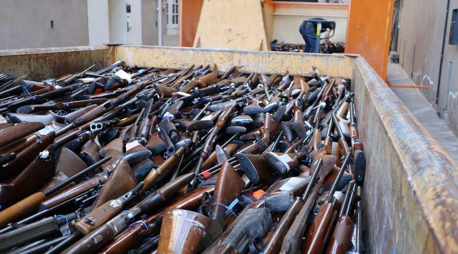 22.457 vuurwapens definitief vernietigd