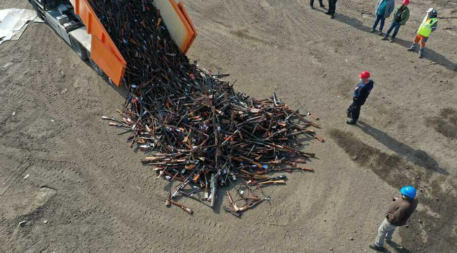 Meer dan 60 ton vuurwapens vernietigd door ArcelorMittal Belgium
