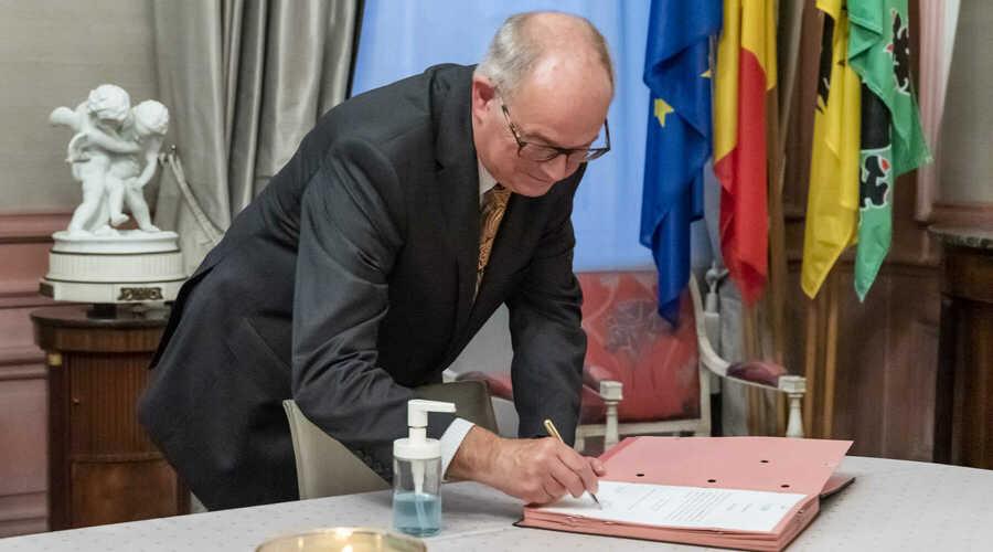 Eedaflegging wnd. burgemeester Robert De Mulder