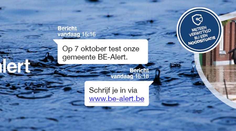 Nationale test BE-Alert: 31 Oost-Vlaamse gemeenten testen mee op 7 oktober
